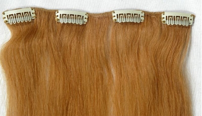 Extensions clip on hair